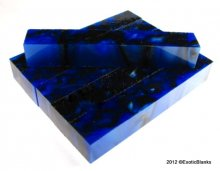 Iridescent Blue & Black Acrylic Pen Blank AA-05
