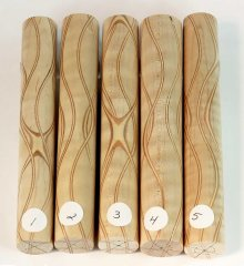Three Veneer Serpentine pen blank - Curly Maple #01-05 Please Choose