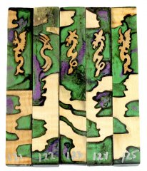 Emerald Dragon Hybrid Pen Blanks #121-125 Dragon Hybrid #121-125 - Please Choose
