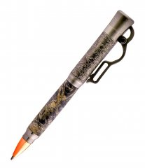 Lever Action Ballpoint Pen Kit - Antique Nickel (Berea)