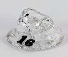 Art Glass Pen Holder Paperweight by Neil & C. Lyon - Number Series Extra Large #16