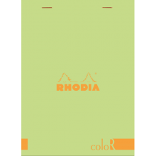 Rhodia Color N16 Premium Pad - Top Staplebound 6 x 8 1/4 Anis Green - Lined Paper