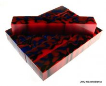 Blue Red & Black Pearl Acrylic Pen Blank AA-18