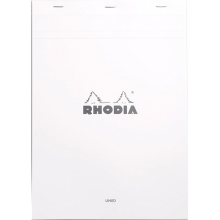 Rhodia Ice N18 Pad - Top Staplebound 8 1/4 x 11 3/4 Lined Paper