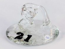 Art Glass Pen Holder Paperweight by Neil & C. Lyon - Number Series Extra Large #21