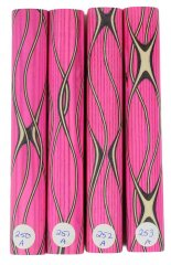 Three Veneer Serpentine Blank - Stabilized Pink Spectraply #250-253A