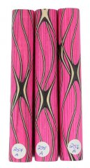 Three Veneer Serpentine Blank - Stabilized Pink Spectraply #254-256A