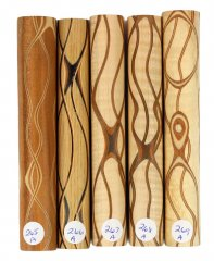 Three Veneer Serpentine Blank - Mixed Woods #265-269A