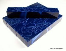 Blue Ribbon on Blue Acrylic Pen Blank AA-30