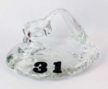 Art Glass Pen Holder Paperweight - #31