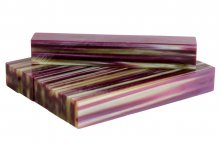 Strata Gem Acrylic Pen Blank - Plum Stripes AA-327