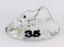 Art Glass Pen Holder Paperweight by Neil & C. Lyon - Number Series Extra Large #35