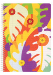 Clairefontaine Collections Pop Art Flowers Notebook - Side Wirebound 8.25 x 11.75 Lined Paper (Assorted)