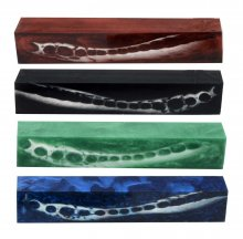 4 Alligator Jaw Bone Pen Blank Combo Pack