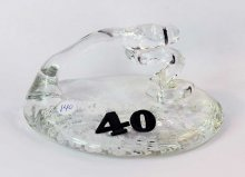 Art Glass Pen Holder Paperweight #40