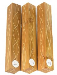 Segmented Serpentine Blanks - Bamboo & Maple #46-48 Please Choose