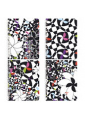 "Clairefontaine Designer Notebooks ""Stella"" - Side Wirebound 8.25 x 11.75 Lined Paper (Assorted)"