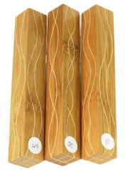 Segmented Serpentine Blanks - Bamboo & Maple #49-51 Please Choose