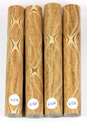Three Veneer Serpentine pen blank - Mesquite #62-65A