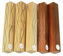 Segmented Serpentine pen blanks - Bamboo & Walnut #63-67 Please Choose