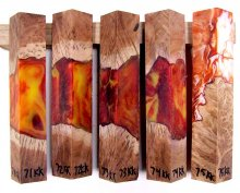 RainBurl Hybrid Pen Blanks #71-75KK