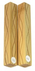 Segmented Serpentine Blanks - Bamboo & Mahogany #73-74 Please Choose