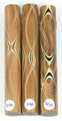 Three Veneer Serpentine pen blank - Plum W/ Asst Veneers #83-85A