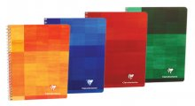 Clairefontaine Classic Notebooks - Side Wirebound 6.5 x 8.25  Lined Paper (Assorted Colors)