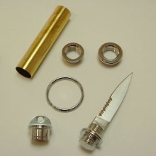 Compact Key Ring Knife Kit - Gold