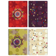 "Clairefontaine Designer Notebooks ""Bubbles"" - Side Wirebound 8.25 x 11.75 Lined Paper"