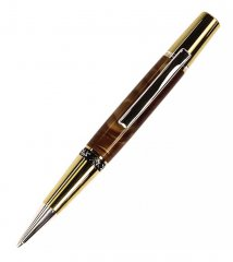 Aero Twist Ballpoint Pen Kit - Ti Gold & Rhodium