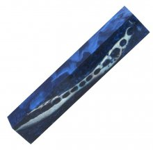 Alligator Jaw Bone Pen Blank - Blue
