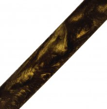 Antique Gold Swirl Rhino Plastic Pen Blanks. Diagonal