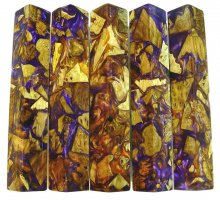 Bits & Pieces Alumilite Pen Blanks - Violet & Gold