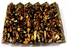 Burl Bits & Pieces Pen Blank - In Black Bits & Pieces - In Black