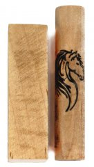 Black Stallion Rotacrylic pen blank - In Curly Maple