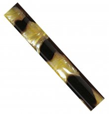 "Black & Gold Aquapearl Acrylic Pen Blank - 5/8"" Pre-Drilled"