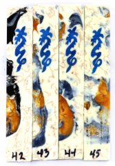 Blue Ice Dragon Scrolled Pen Blanks #42-45