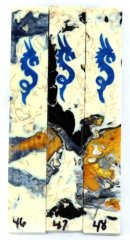 Blue Ice Dragon Scrolled Pen Blanks #46-48