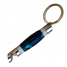 Bottle Opener Keychain Kit - Chrome