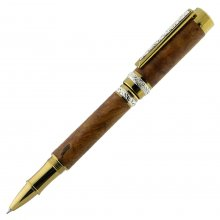 Cambridge Rollerball Pen Kit - Ti-Gold With Stunning Silver