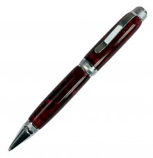Cigar Pen Kit - Satin Chrome & Chrome (Chrome Nib)