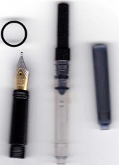 Caballero Fountain Pen Conversion Kit - Black Ti
