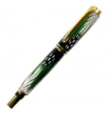 Caballero Rollerball Pen Kit - Titanium Gold/Black Chrome