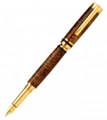 Cameron Fountain Pen Kit - 24kt Gold