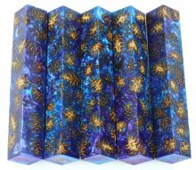 Mini Pine Cone Pen Blanks - Blue & Purple