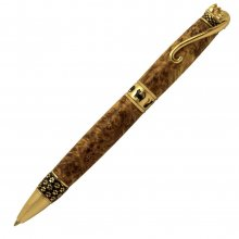 Cat Ballpoint Pen Kit - 24kt Gold