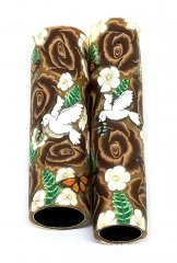 Melanie's Polymer Clay Pen Blanks - Chocolate Roses & Doves