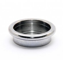 Shaving Brush Decor Mounting Cup - Chrome