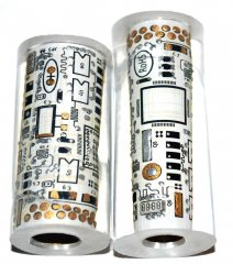 John's Circuit Board Pen Blanks - White Decal - Jr. Pen Kits.